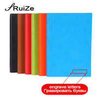 RuiZe creative stationery hardcover notebook A5 B5 leather diary note book thick paper rainbow edge cute journal agenda gift