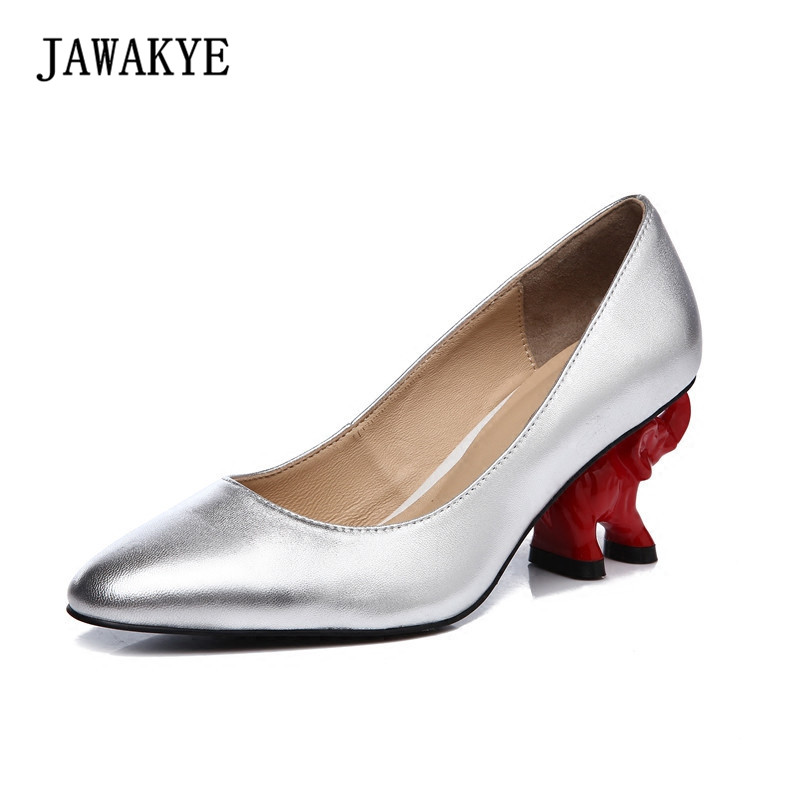 2018 Spring Newest High Heels Shoes Woman Round Toe