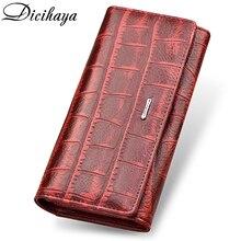 DICIHAYA бренд пояса из натуральной кожи Длинные для женщин кошелек Alligatos Hasp застежка клатч деньги телефон сумка держатель для карт женский
