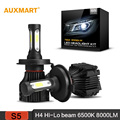 Auxmart H4 HB2 9003 LED Headlight Dipped Single Beam DRL Front Bulbs 72w/set 8000LM 6500K All-in-one 12v 24v COB Fog Headlamp