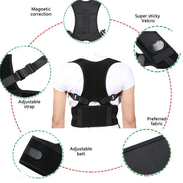 FREE SHIPPING Posture Corrector Corset Back Brace Belt Lumbar Support Adults