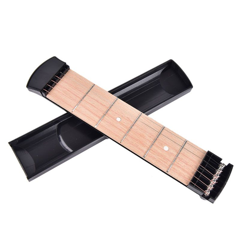 New Portable Pocket Acoustic Guitar Practice Tool Gadget Chord Trainer 6 String 4/6 Fret Model for Beginner Guitar Parts
