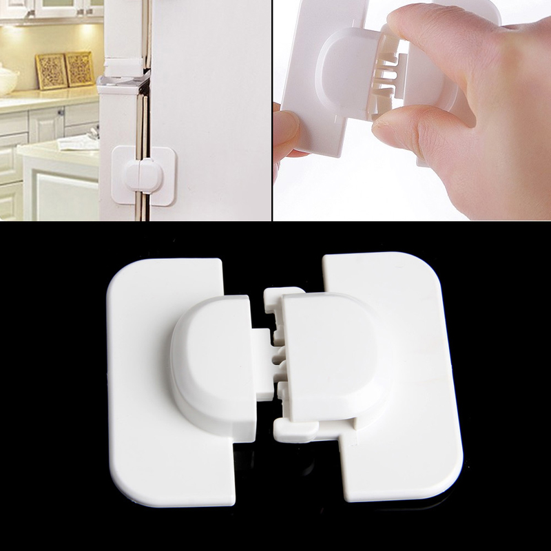 Cabinet Door Drawers Refrigerator Toilet Safety Plastic Lock For Child Kid Baby Safety Lock In