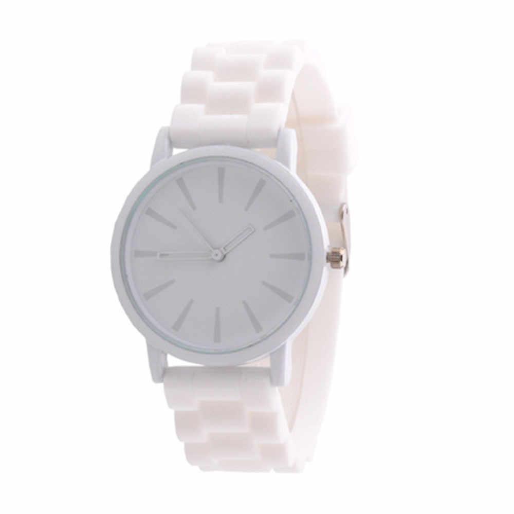 Женева силиконовой резины Желе Гель Кварцевые аналоговые спортивные для  женщин наручные часы унисекс для женщин часы d9f173e3aacde