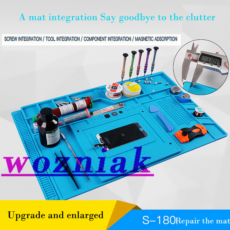 S-180 Radio Magnetic High Temperature Resistant Silicone Antistatic Mat Rubber Gasket Of Mobile Computer Repair Insulation Pad