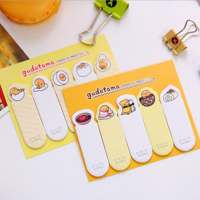 decorative office supplies. 1pclot mr egg series sticky notes cute memo pad finger bookmark cartoon gudetama post it stationery office supplies decorative
