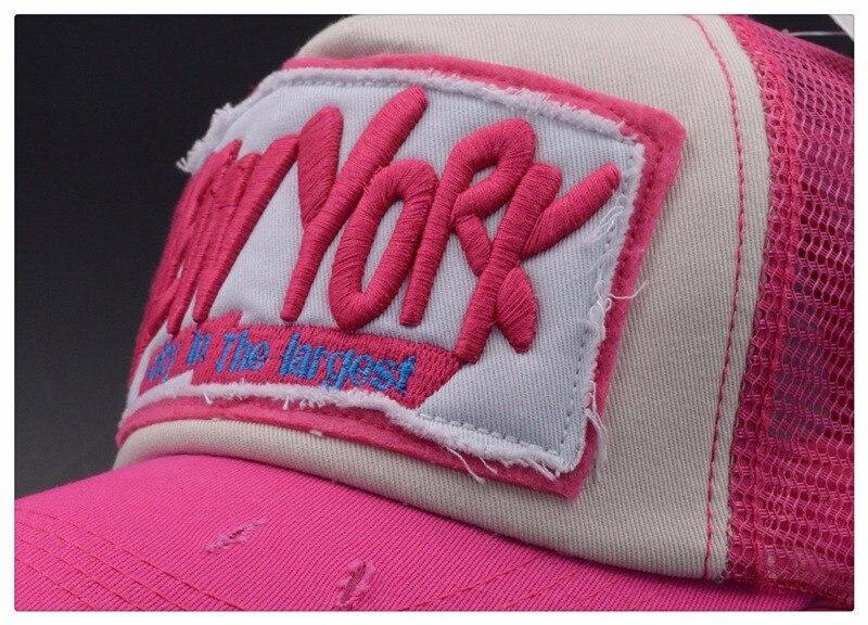 5 Panel NY Baseball Cap with Mesh Brand Snapback Hat Trucker Cap New York Baseball Caps Men Women Girls Boys Summer Mesh Cap