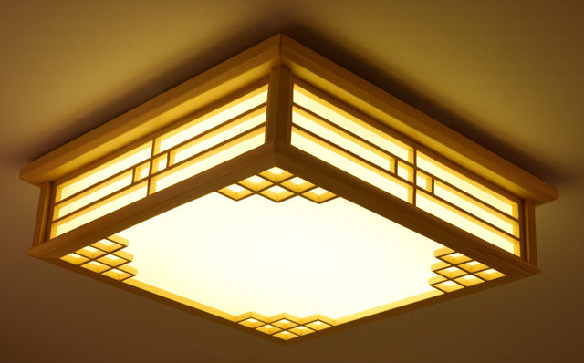 Dimmable japanese ceiling lights indoor lighting led square modern dimmable japanese ceiling lights indoor lighting led square modern wooden ceiling lights living room japan lamps aloadofball Choice Image