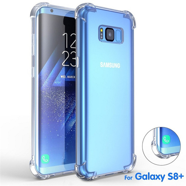 free shipping 429ea a5625 US $1.86 |FULCOL Cases For Samsung S8 Plus Transparent Phone Case For  Samsung S8 Case Cover For Samsung Galaxy S9 Plus Cases Note 8 9 Capa-in  Fitted ...