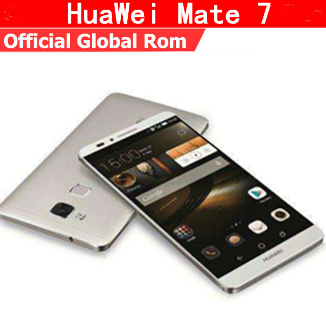 "Original Huawei Ascend Mate 7 4G LTE Mobile Phone Kirin 925 Android 4.4 6"" FHD 1920x1080 3GB RAM 32GB ROM NFC Fingerprint"