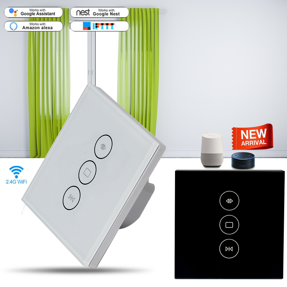 Home Automation Modules Timethinker Smart Curtain Switch Wifi Panel Touch Switch Domotica Smart Life App Voice Remote Control For Alexa Google Home Mild And Mellow Smart Electronics