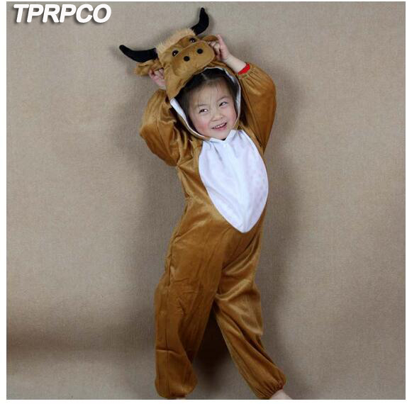 TPRPLH Cartoon Pajama Animal Yellow Cow Cattle Costume Performance Clothes Suit Childrenu0027s Day Halloween Children Kids Y964-in Boys Costumes from Novelty ...  sc 1 st  AliExpress.com & TPRPLH Cartoon Pajama Animal Yellow Cow Cattle Costume Performance ...