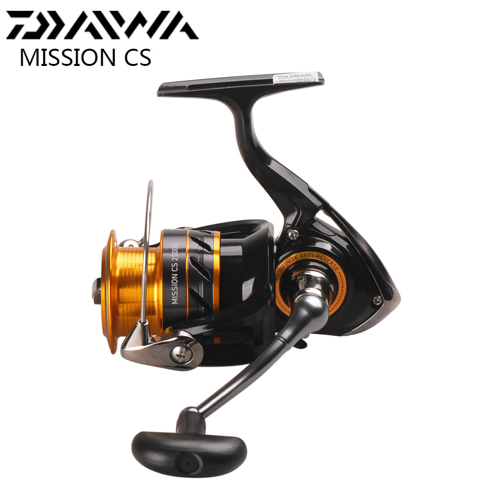 DAIWA MISSION CS Spinning Angelrolle 2000 2500 S 3000 S 4000 S 4 Kugellager 5,3: 1 Moulinets De Peche Spinnrad Carretilha