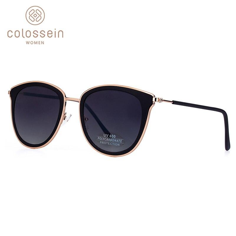 81c9c365f1 COLOSSEIN de ojo de gato gafas de sol de moda de las mujeres gradiente,  gafas de sol para hombres UV400 Gradual de cristal brillante de la luz al  aire libre ...
