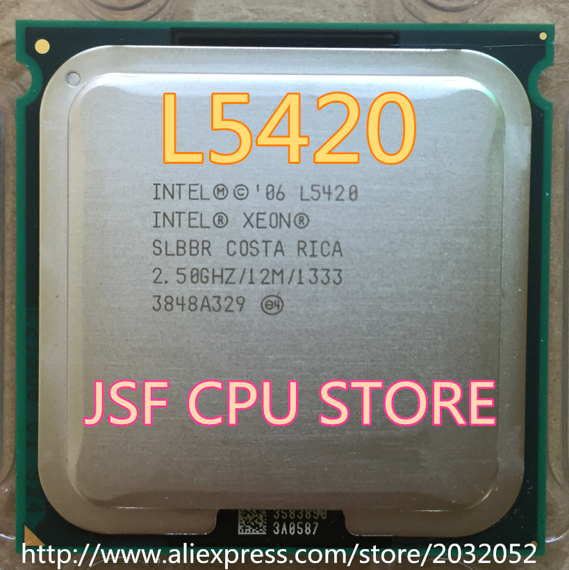 Intel Xeon L5420 server CPU/2.5GHz /LGA771/L2 Cache 12MB/Quad-Core/( Give Two 771 to 775 Adapters)