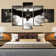 Wall Modular Painting Frame Art Poster 5 Panel Movie Batman Picture Home Decor