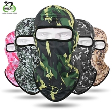 Camouflage Cycling Face Mask Ski Neck Warmer Head Scarf Anti-UV Outdoor Balaclava Full Face CS Mask Cap Breathable Windproof [cosplacool]new hot sell windproof mask quick drying breathable anti uv soft maskwargame tactics balaclava hat