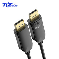 Displayport Optical Cable 32.4Gbps Male 1.4 Version 4K 144Hz Display port Audio Video Cable 100m Long Distance Transmission
