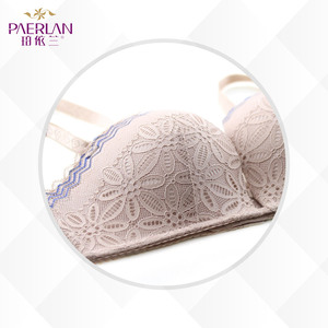 Image 4 - PAERLAN Half 1/2 Cup Little Bra Seamless Braush Push Up Wedding Dress bra memory soft Underwire sexy lace Floral Women underwear
