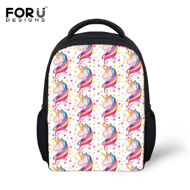 Forudesigns Cartoon Children School Backpack 3d Horse Brand Designer Small Book Bags For Kindergarten Baby Casual