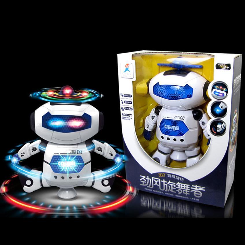 Electronic Caminar Baile Elegante Espacio Astronauta Robot Niños Juguetes Música