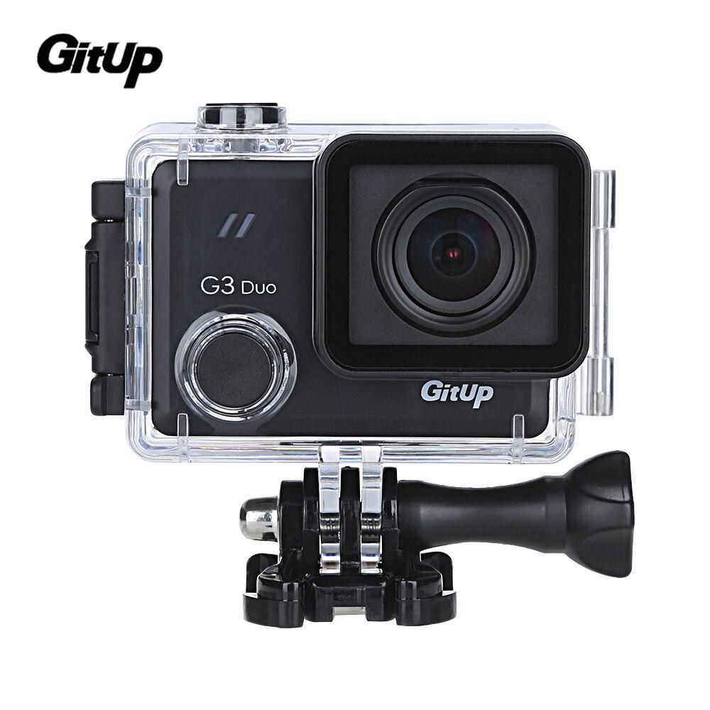 En Stock Gitup D'origine G3 Duo 2 K 12MP 2160 P Sport Action Caméra 2.0 tactile LCD Écran GYRO 170 degrés GPS Esclave Caméra En Option