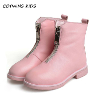 CCTWINS KIDS 2017 Kid Fashion Black Children Girl Baby Brand Brown All Match Boot Toddler Genuine