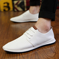 New Arrivals Brand Fashion Casual Men's Shoes Breathable Flat Men Casual Shoes Male Classic All White Leather Flat Loafers