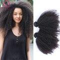 2 Pcs Cabelo Crespo Afro crespo Mongol Excêntricas Extensões de Cabelo Encaracolado 7A cabelo Humano Virgem Afro Kinky Curly Virgem Cabelo Natural Cabelo tecer
