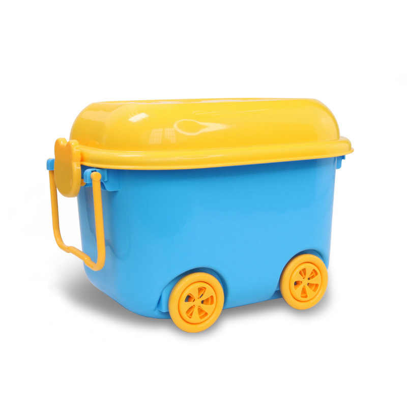 Plastic Storage Box For Building Block Brick Kids Toy Compatible With Classic Bricks Storage Box Barrel Case With Wheel