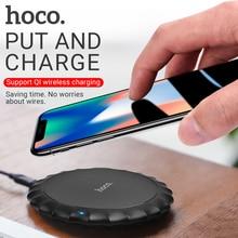 Hoco caricabatterie senza fili per apple iphone samsung xiaomi telefoni pad di ricarica portatile desktop adattatore senza fili stuoia di base di ricarica