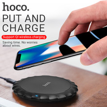 HOCO Charger Nirkabel untuk Apple Iphone Samsung Xiaomi Ponsel Pengisian Pad Portable Desktop Adaptor Nirkabel Mat Pengisian Base(China)