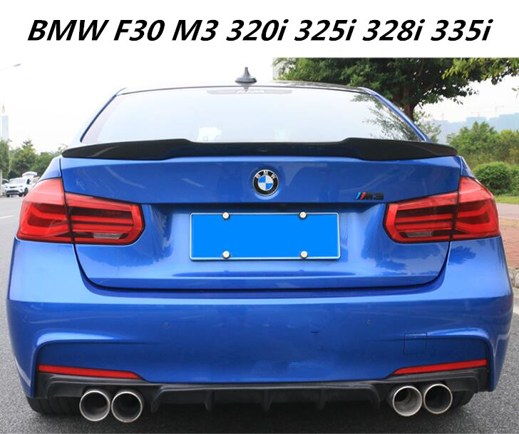 JIOYNG Carbon Fiber CAR REAR WING TRUNK LIP SPOILER FOR BMW 3 Series BMW F30 F80 M3 320i 325i 328i 335i 3 Series 2012-2017 потолочная люстра нарита cl114142 citilux 1111010