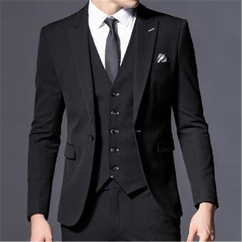 Custom Made Italian Style Best Man Men Suits 3 Pieces (Jacket+Pant+Vest+Tie) Wedding Prom Dinner Tuxedos Masculino Blazer