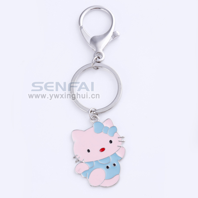 "New Arrive Cute Silver Plated Lovely""hello kitty""Keychain Ring Holder,Relogio Feminino Key Chain for Women Best Bitch Gift"