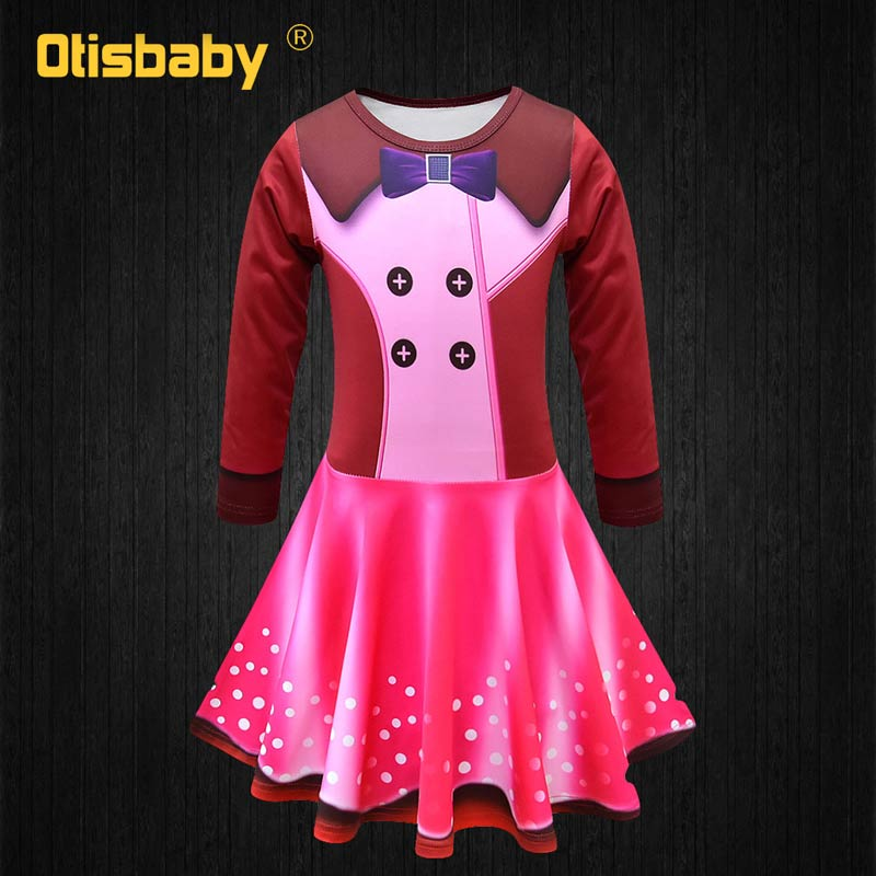 2019 NEW Beautiful Girl Princess Rainbow Fancy Nancy Cosplay Costume Summer Infant Ball Gown Birthday Party Kids Prom Dress in Dresses from Mother Kids