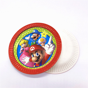 Image 3 - 73 개/몫 생일 파티 용품 일회용 식기 슈퍼 마리오 브라더스 파티 용품 장식 종이 냅킨 플레이트 컵
