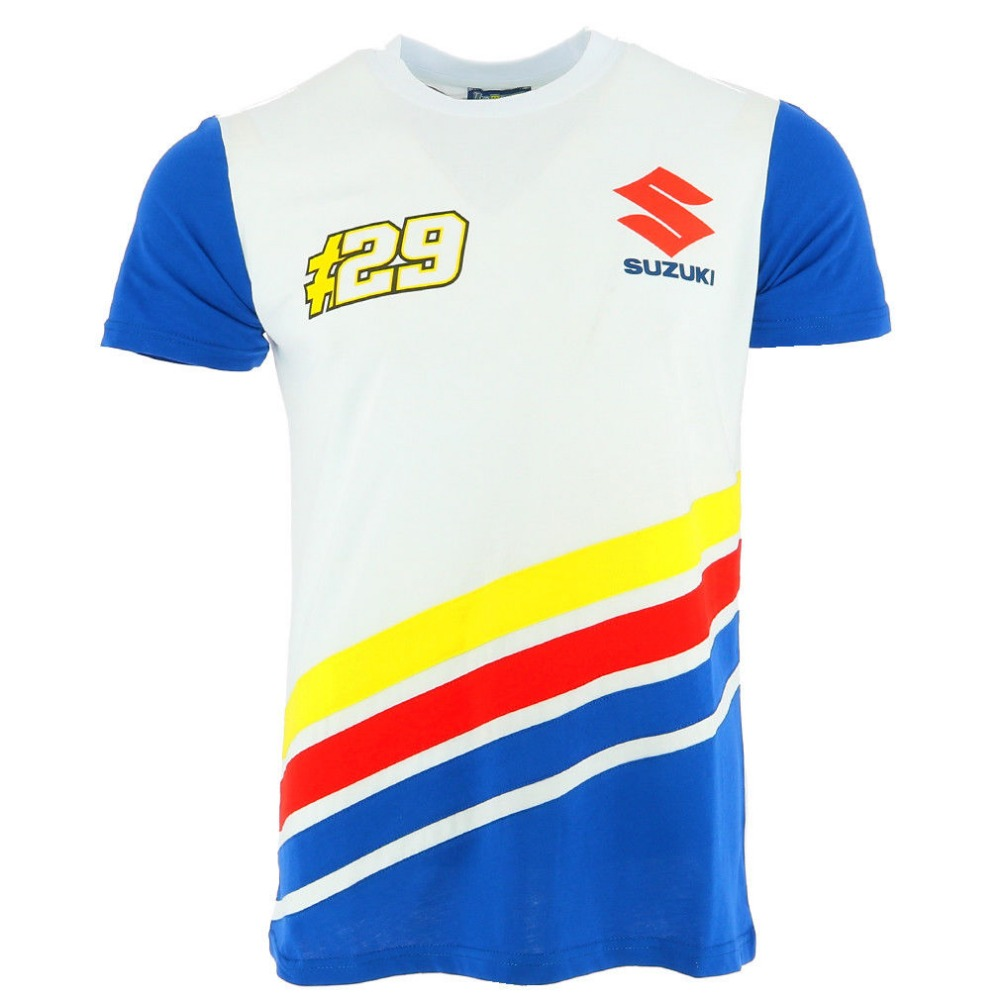 MotoGP NO.29 100% Cotton T-Shirt For Suzuki Racing Team Motorcycle Racer Andrea Iannone  ...