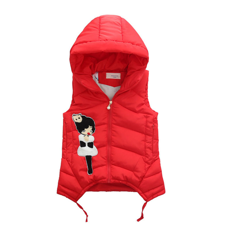 Image 4 - Child Waistcoat Children Outerwear Winter Coats Vest for Girls Kids Clothes Fashion Warm Cotton Teen Girl Vest Jacket 5 12Y-in Vests from Mother & Kids