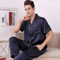 M8803 New Fashion 100 Silk Sleeping Clothes Home Wear Clothing Set Silk Pajamas Set
