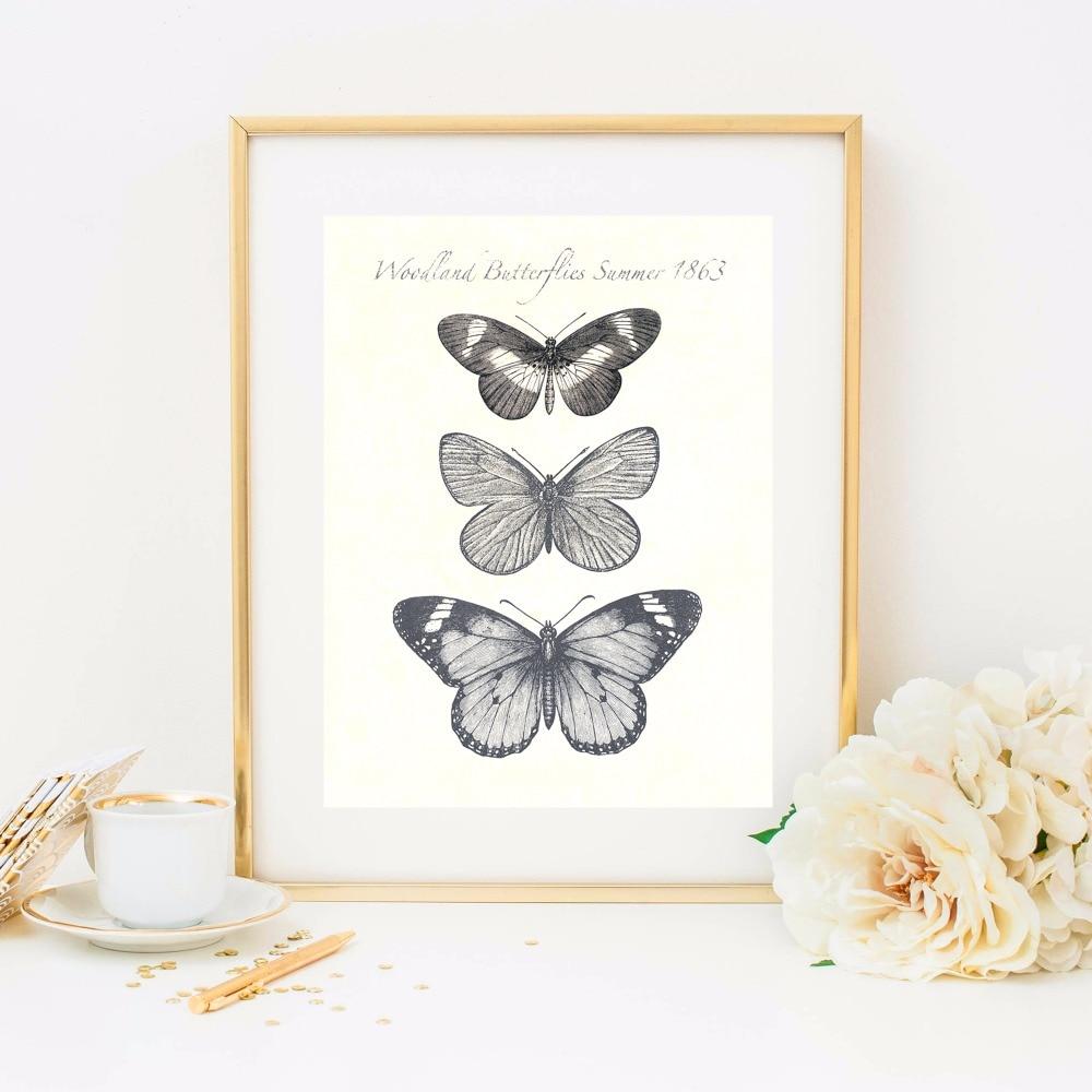 A pillangók növekedése Vászon művészeti nyomtatás Festmény - Lakberendezés - Fénykép 2
