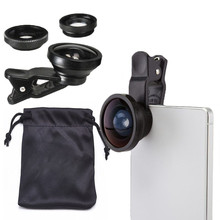 3-in-1 Wide Angle Macro Fisheye Lens Kit with Clip 0.67x Mobile Phone Fish Eye Lens for iPhone Lens Lentes Mobile Phone
