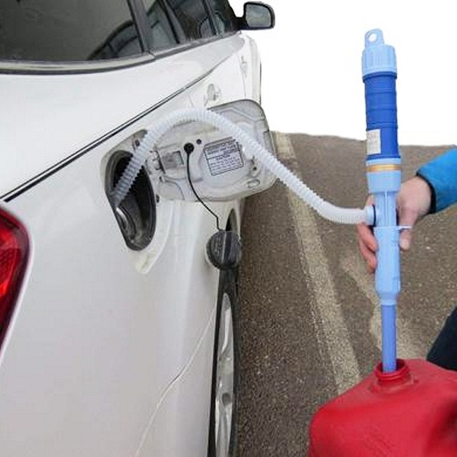 Car Oil Extractor Electric Pumping Pipe Oil Sucker Pump dry Battery Manual Water Change Oiler Self driving Outdoor Tool Parts