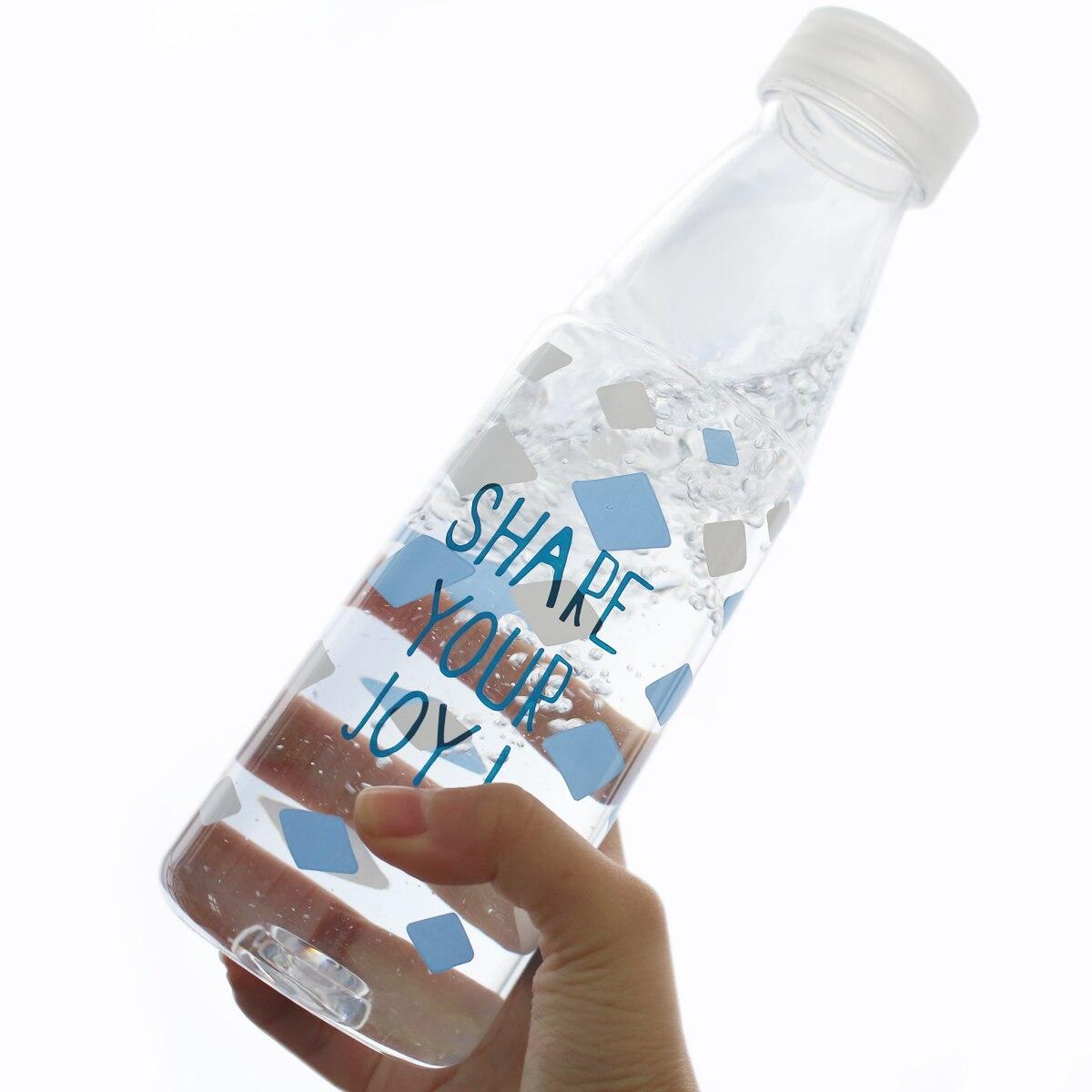 Креативная летняя дорожная фруктовая кофейная Спортивная бутылка для воды Экологичная пластиковая переносная бутылка для питьевой воды 600...