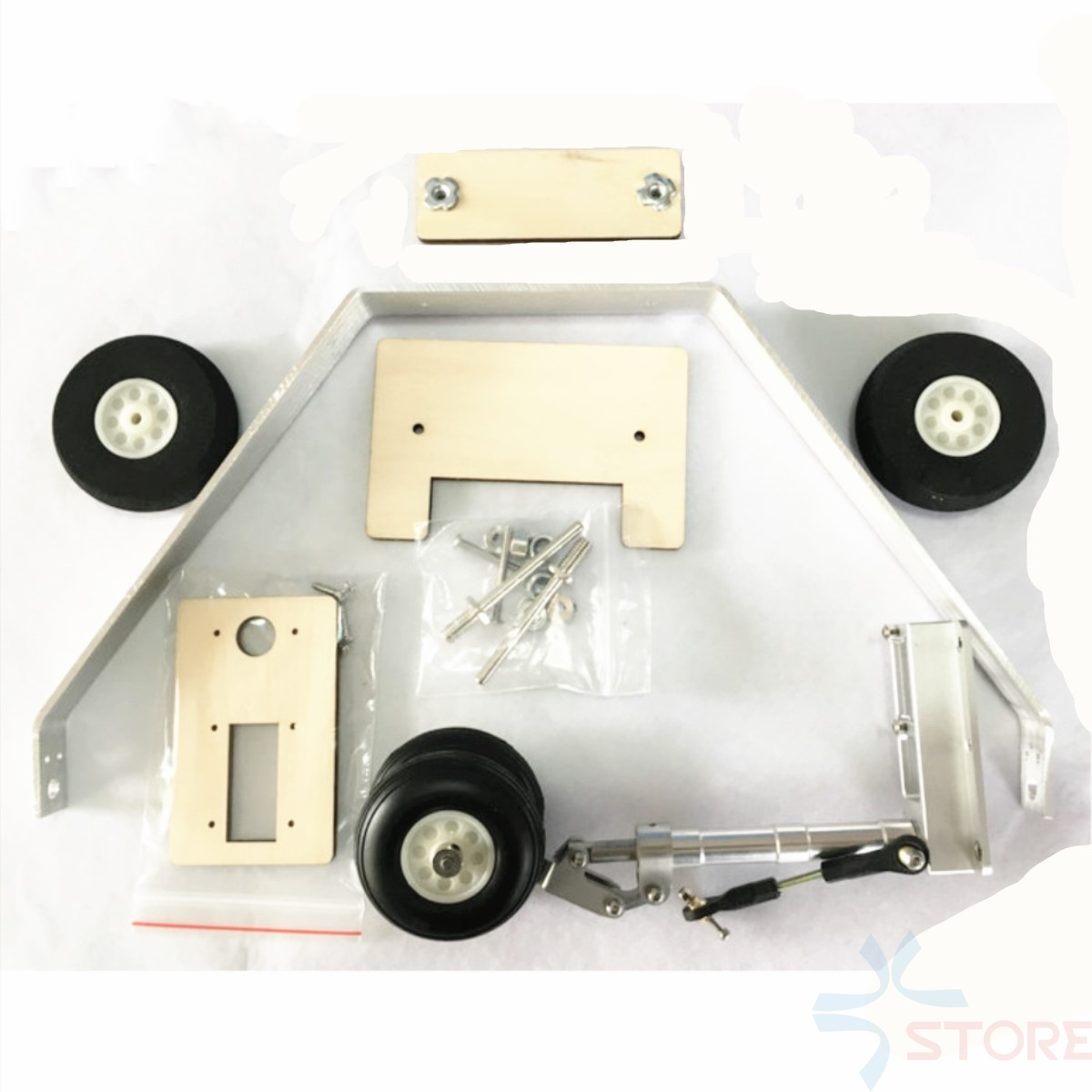 цена Aluminum alloy landing gear remote control retractable for undercarriage for Skywalker x8 EPO Airplane Spare Parts