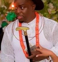 Купить с кэшбэком 4UJewelry Men Coral Costume African Jewelry Necklace And Bracelet Beads Set For Groom Wedding Jewellery Set Free Shipping 2018
