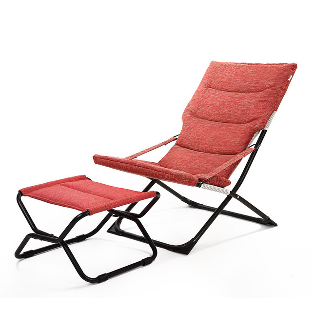 Modern Indoor Ourdoor Chaise Lounge Chair W Footrest Foldable Patio Garden Furniture Folding For Beech