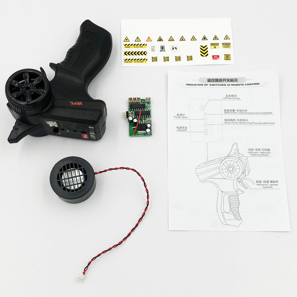 WPL B14K B24K B16K B36K C14K C24 original full size remote control kit KIT version universal 4 channel remote control sound set