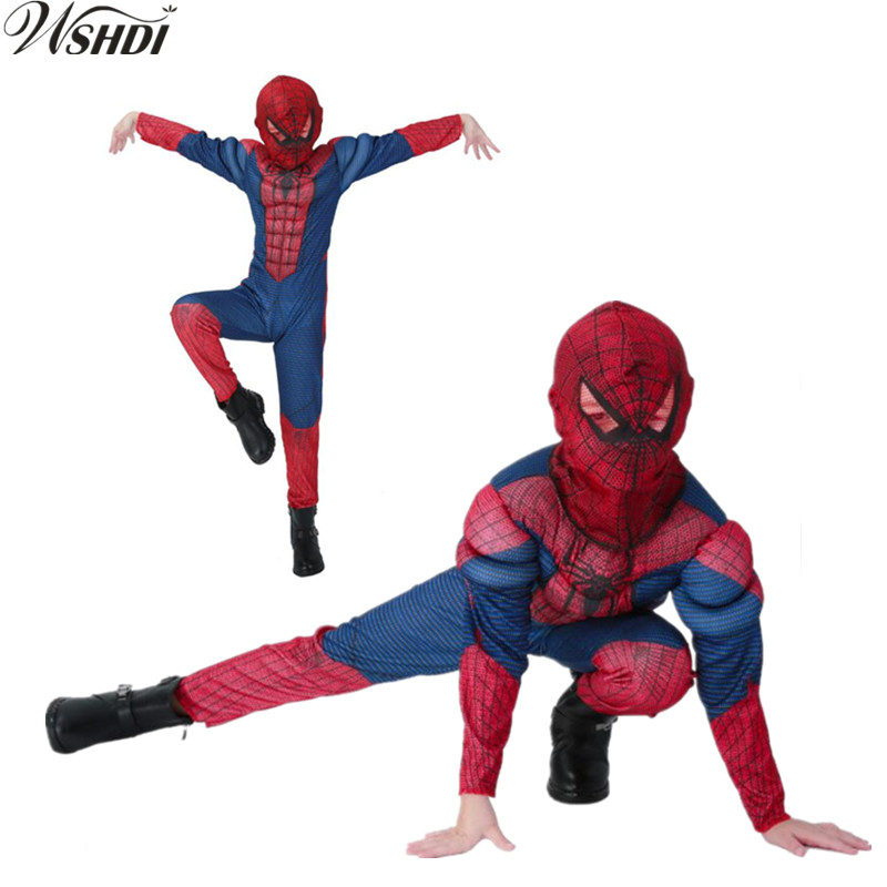 New Kids Muscle spiderman Costume Spider Man Suit Spider-man Costumes Children Kids Spider-  sc 1 st  AliExpress.com & amazing blue spiderman costume kids muscle girl 3d halloween ...
