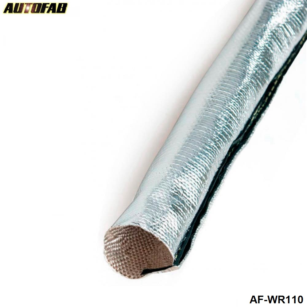 Aluminized Metallic Heat Shield Sleeve Insulated Wire Hose Cover ...